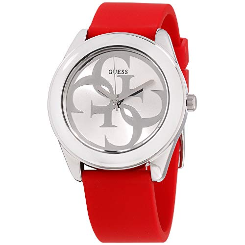 Guess G Twist Silver Dial Silicone Strap Ladies Watch W0911L9
