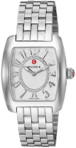 Mini Urban Watch Diamond (MICHELE Women's 'Urban Mini' Swiss Quartz Stainless Steel Casual Watch, Color:Silver-Toned (Model: MWW02A000585))