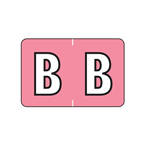 Alphabetic Color Coded Labels- Letter B, Pink, Barkley ABKM and Sycom Compatible (Polylaminated, 500/Roll) Color Coded Alpha Labels