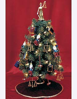 19910dd86b4d2a Amazon.com  Lawyer Christmas Tree - Pre-Lit Tree with Ornaments for ...