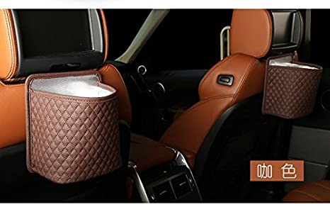 QIYUEQI Type de suspension en cuir pvc 16cm de large 15cm de haut 10cm épaisseur générale respectueuse de l'environnement et faciles à nettoyer car Trash & seau