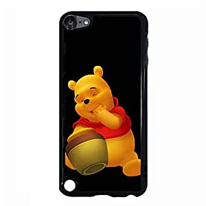 Ipod Touch 5th Generation Original Cover Case with Creative Pooh Bear Anime Element,Pooh Bear Logo Cartoon Style Cell Phone Case