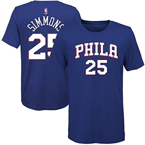 (Outerstuff Ben Simmons Philadelphia 76ers Youth Royal Name and Number Player T-Shirt Large 14-16)