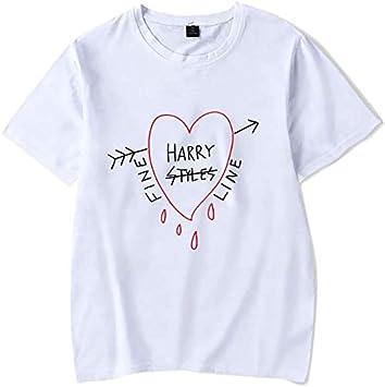 JVASX Hip Hop Moda Harry Styles Camiseta Fine Line Amor en el Tour Verano de Las Mujeres de Harajuku Top Tees Mujer gráfico de la Camiseta Camiseta: Amazon.es: Deportes y aire libre