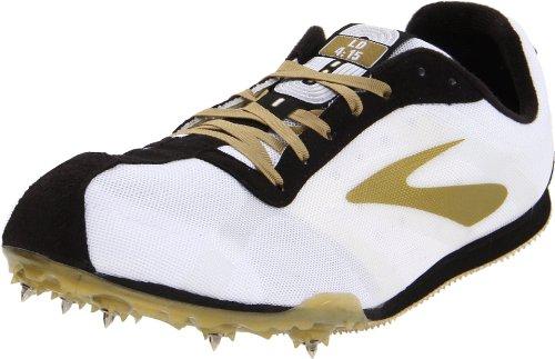 Brooks Track Shoes - Brooks Men's PR LD Track Shoe,White/Gold/Black/Silver,11 D US