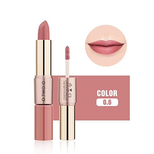 Esharing 12 Colors Women 2 in 1 Matte Lipstick Lip Gloss Dou