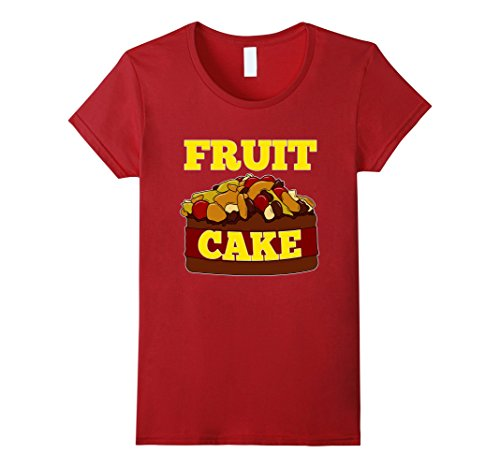 Women's FUNNY FRUIT CAKE T-SHIRT Ugly Christmas Sweater