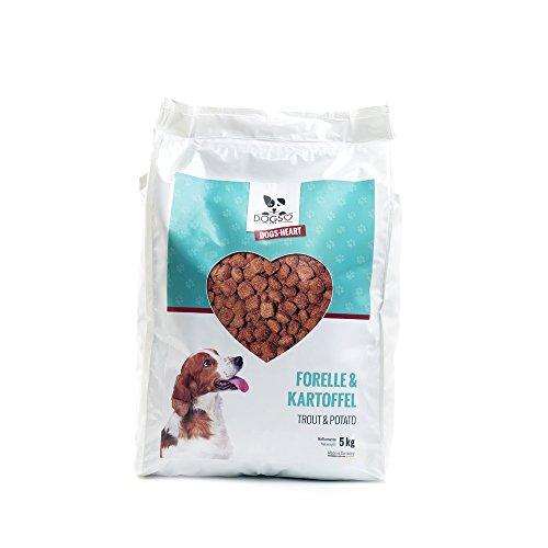 DOGS-HEART Forelle & Kartoffel 5 kg - Getreidefreies Hypoallergenes Hundefutter, Bestes Futter ohne Zucker, Mais oder Weizen