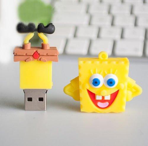 Fashion spongebob model 16GB cartoon USB Flash 2.0 Memory Stick Friends Gift