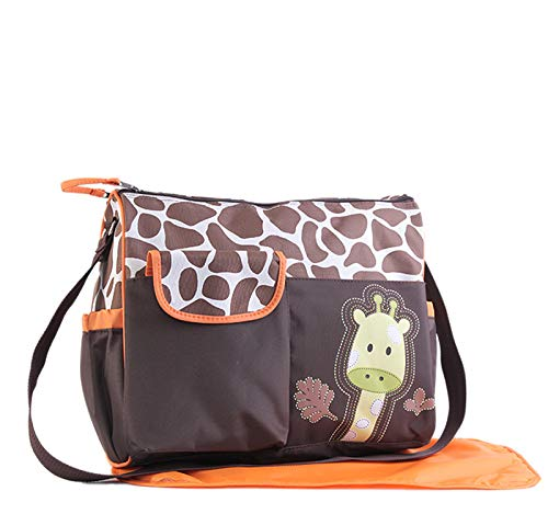 - Baby Diaper Bag Multi Function Waterproof Mummy Handbag Giraffe Tiger Zebra Print Big Size#3217 (Orange Giraffe)