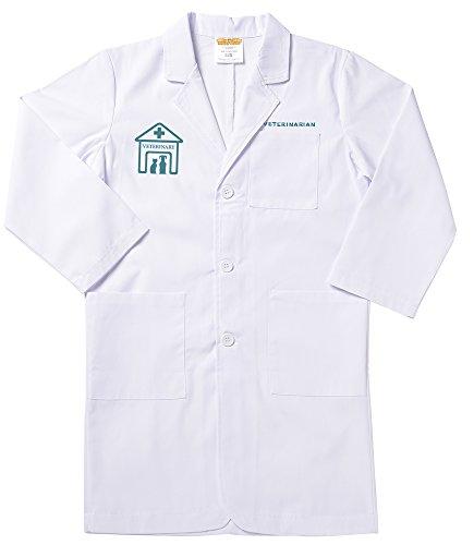 Aeromax Unisex-Children Lvt-46 Veterinarian Lab Coat, White, 4/6