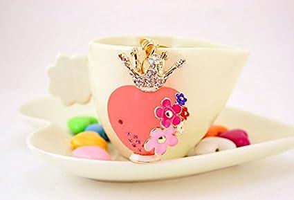 Gifts UK - Llavero con diseño de flores, con forma de botella de perfume y