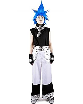 Miccostumes Men's Soul Eater Black Star Cosplay Costume Small Black and White