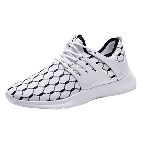 OrchidAmor Men's Fashion Casual Mesh Sport Running Shoes Breathable Shoes Sneakers Shoes 2019 White