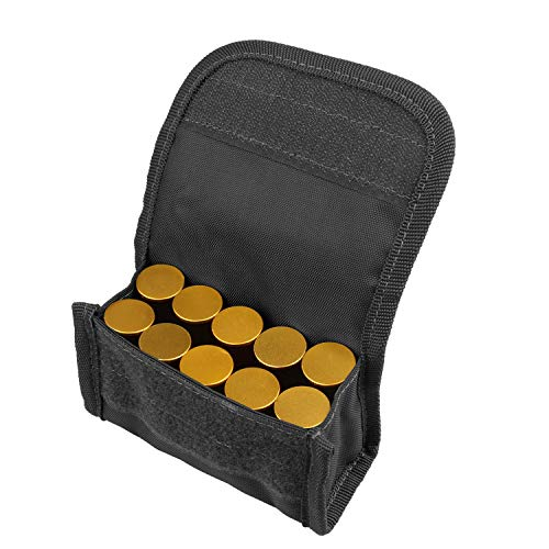 FIREDOG 10 Round Shotgun Shotshell Reload Holder Molle Pouch for 12 Gauge/20G (Black)