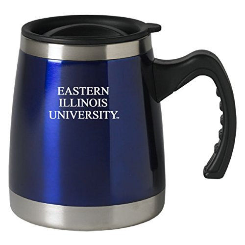 Eastern Illinois University - 16-ounce Squat Travel Mug Tumbler - Blue