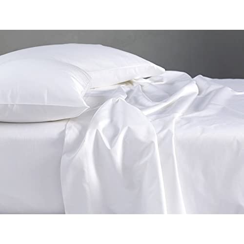 Top King Size Flat Sheet - 1800 Series Soft Egyptian Quality Microfiber - (King/California King, White Solid)