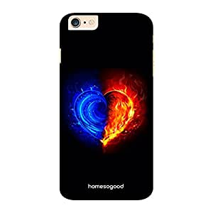 HomeSoGood Calm And Burning Love Black 3D Mobile Case For iPhone 6 Plus (Back Cover)