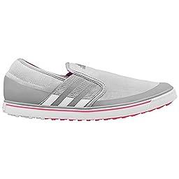 adidas Women\'s W Adicross SL Golf Shoe, Clear Onix/Running White/Flash Red, 6 M US