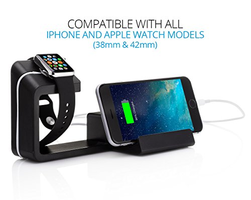 Element Works Dual 2-in-1 Charging Stand & Dock for Apple Watch and Apple iPhone.