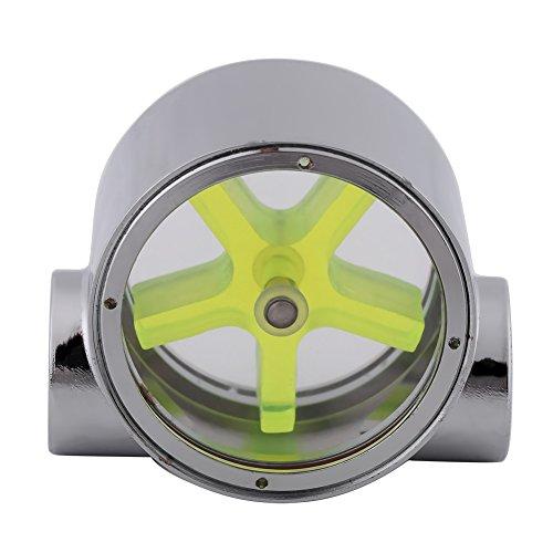 Metal Flow Indicator G1/4'' Cooling Flow Meter Sensor with 5 Impeller Blades for Computer