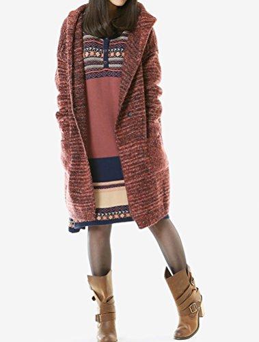 MatchLife - Abrigo - abrigo - para mujer Style1-Red