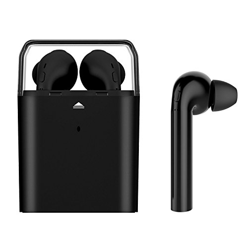 Wireless Earbuds, ANGGO Bluetooth V4.1 Sports Headphone Twins in-Ear Stereo Earphone Headset with Mic, Charging Box for iPhone 7p 7 6sp 6s 5s, Samsung Galaxy Note and Android