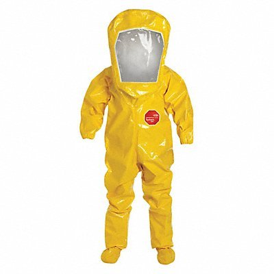 Encapsulated Suit, L, Tychem BR, Yellow