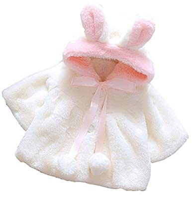 Baby Girl Fur Winter Warm Coat Cloak Jacket Thick Warm Clothes