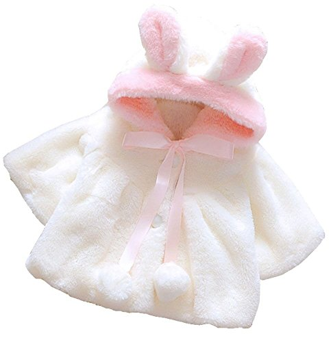 Baby Girl Fur Winter Warm Coat Cloak Jacket Thick Warm Clothes 12-18Months (Faux Silk Coat)