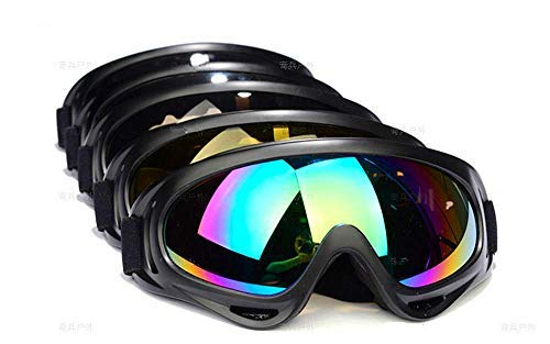 Dplus Motorcycle Goggles - Glasses Set of 5 - Dirt Bike ATV Motocross Anti-UV Adjustable Riding Offroad Protective Combat Tactical Military Goggles for Men Women Kids Youth Adult by Dplus (Image #1)
