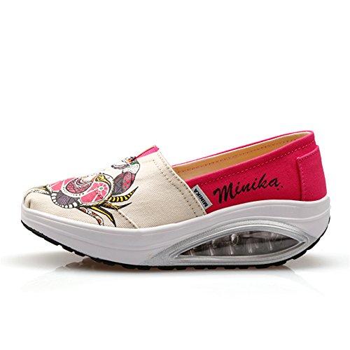 Chaussures Air Mocassins Mocassins Conduite de Automne Printemps Chaussures Slip Maille Slope Ons Chaussures Chaussures amp; Sneakers Secouer Shake Chaussures Talons Shake Plat Femmes Chaussures B Fitness wq1IBUAxW