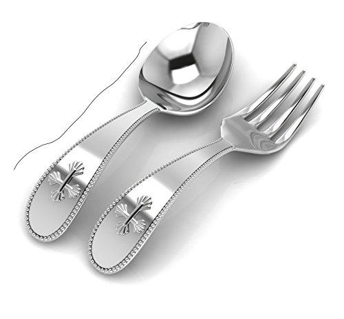 Krysaliis Sterling Silver Cross Spoon Fork Set