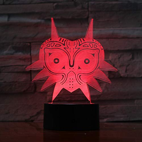 Price comparison product image Cat Mask 3D Lava Lamp Creative 7 Colors Changing LED Night Light RGBW Mood Decor Gift Bedroom Table Lamp Reliable