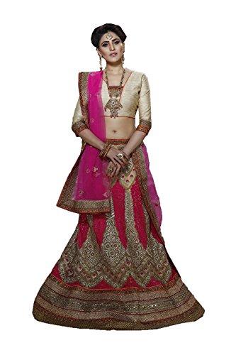 IWS Indian Women Designer Wedding pink Lehenga Choli K-4574-40126