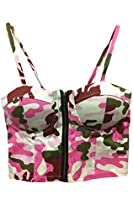 Pink Queen® Women's Strap Sexy Tops Bustier Short Vest Top