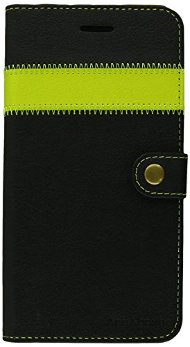 iPhone 6S Plus Case, AceAbove iPhone 6S wallet case [Black / Lime] - Premium PU Leather Wallet Cover with [Card Slots] and [KickStand] Function for Apple iPhone 6S Plus / iPhone 6 Plus by AceAbove