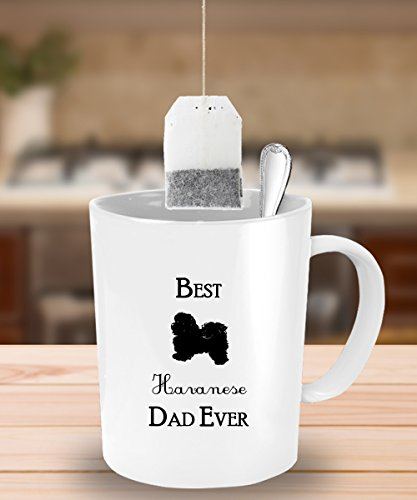 [Best Havanese Dad Ever Gift - White Coffee Mug - 11 oz Tea Cup - Ceramic] (Original Cute Costumes Ideas For Women)