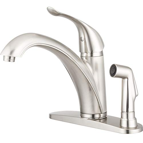 Metal Side Sprayer - Pacific Bay Medina Kitchen Faucet with Side Sprayer (Brushed Satin Nickel)