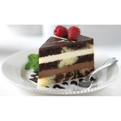 The Original Cakerie 24 Cut Super Size Tuxedo Truffle Mousse Dessert Cake -- 2 per case.