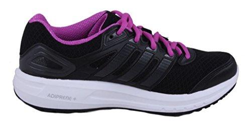 Adidas Duramo 6 Kvinna Svart / Flash Rosa Kör / Kurs Sneakers Svart / Flash Rosa
