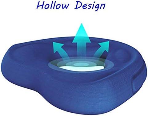 Hdhxt//シートクッション、シートパッド、ポータブル通気性ノンスリップクッション、オフィスの椅子のためのメモリ泡の人間工学的姿勢のシートパッド、尾骨の痛みを軽減するシートクッション