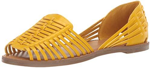 Mia Ballet Flats - MIA Shoes Women's Pandora Ballet Flat, Yellow, 6.5 Medium US