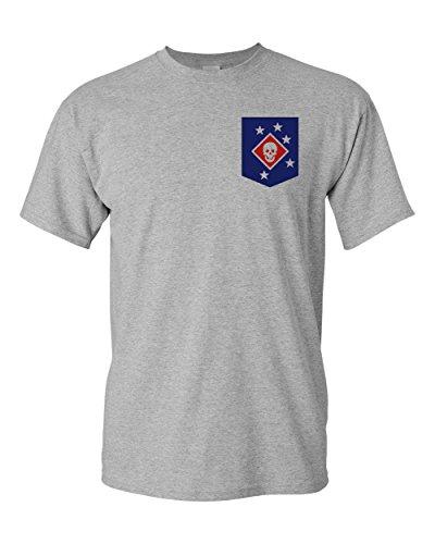 USMC Marine Raiders Insignia Marine Corps Veteran Shirt (Sport Grey, Medium)