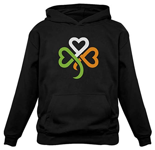 TeeStars - Shamrock Ireland Clover Hearts for St. Patrick's Day Women Hoodie XX-Large Black