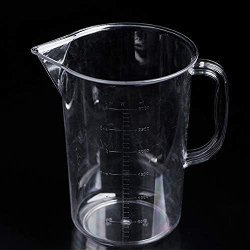 YCFACTORY 2000ミリリットルppプラスチックフラスコ両面デジタル計量カップシリンダースケールメジャーガラスラボ実験ツール ガジェット (色 : Transparent)