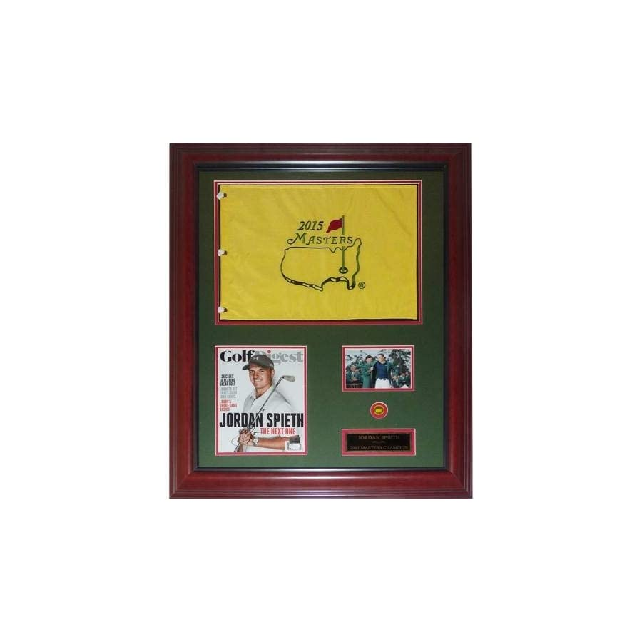 Jordan Spieth Autographed Signed Auto 2015 Masters Champion Deluxe Framed Flag Piece JSA Certified Authentic