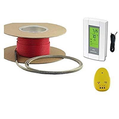 Image of 20 Sqft Cable Set, Electric Radiant Floor Heat Heating System with Aube Digital Floor Sensing Thermostat