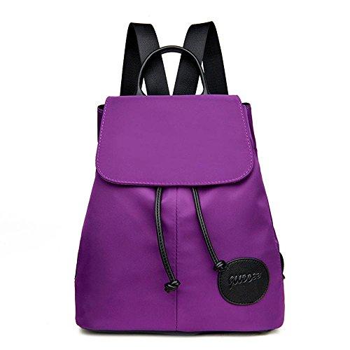 Aoligei Fashion femmes Pack version coréenne imperméable toile Oxford double sac à bandoulière Collège vent Voyage livre sac à dos B