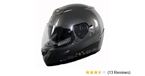 Amazon.com: Vega V-Tune Bluetooth Full Face Helmet (Titanium, Small): Automotive